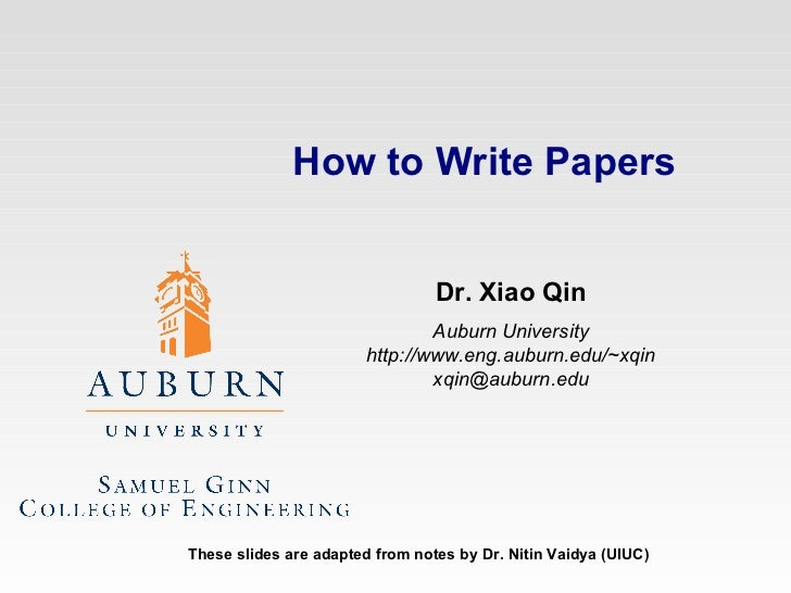 How to write university papers