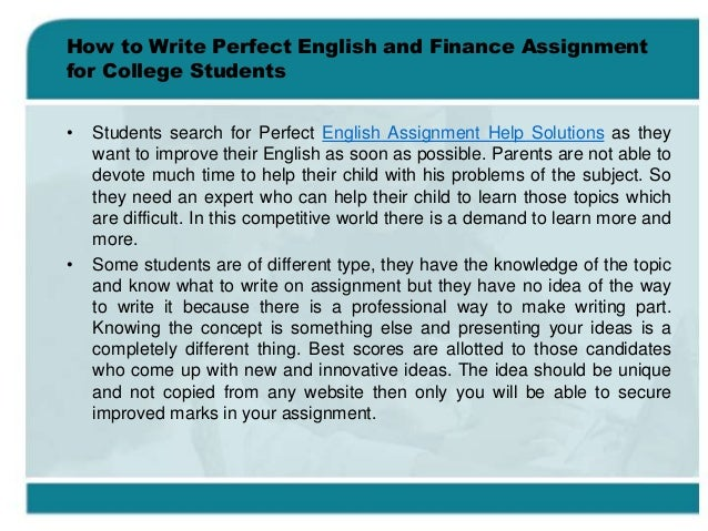 How to write a college assignment