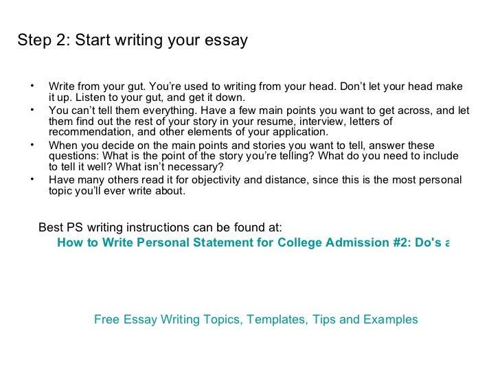 best way to start a college essay
