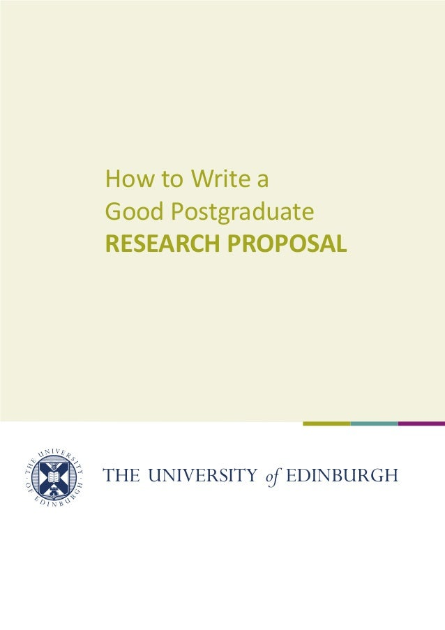 How to write a business research proposal