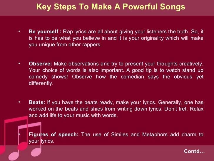 How do you write a rap song?