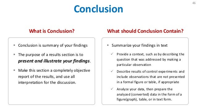 Write a conclusion for a research paper