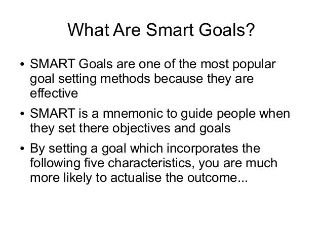 how to write smart personal goals