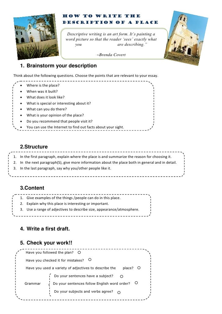 essay descriptive essay place examples of discriptive essay pics ...