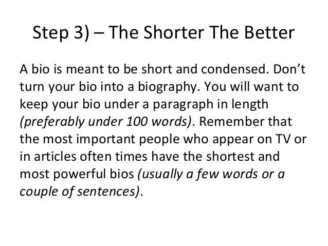 biography essay outline