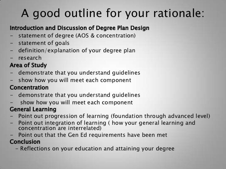 Writing a Project Rationale: A guide for students