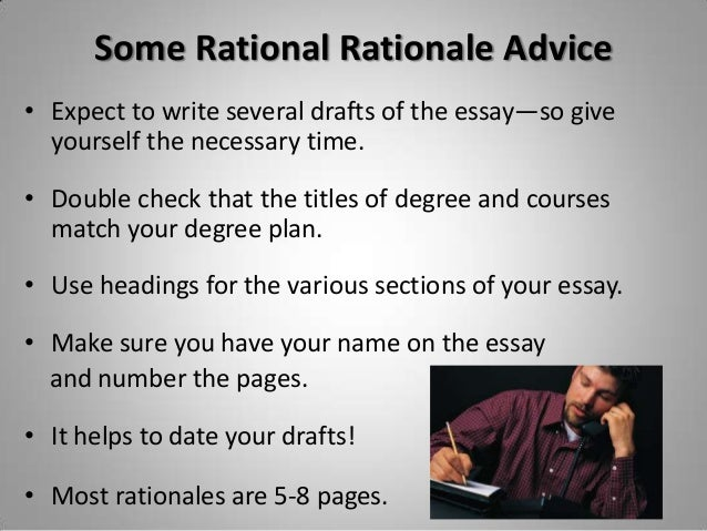 planning  u0026 writing your rationale essay