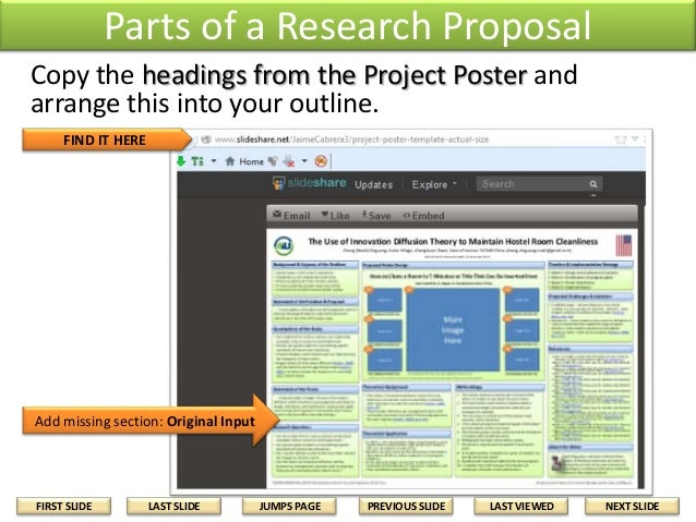 parts of research proposal Office of sponsored programs parts of a proposal parts of a proposal identify the target population or the research question upon which the project will have.