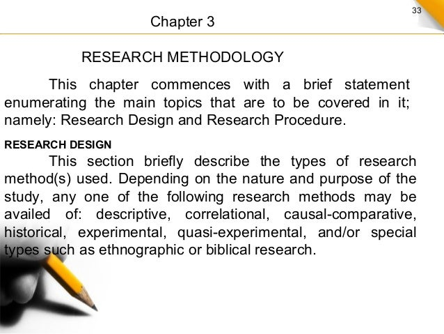 Dissertation writing methodology section