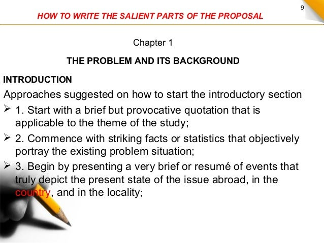 How to write proposal for thesis