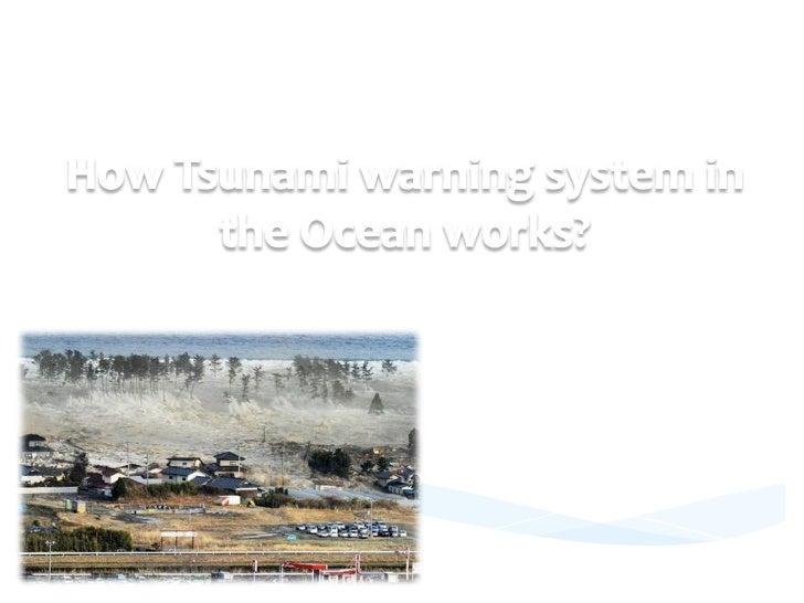 How tsunami warning system