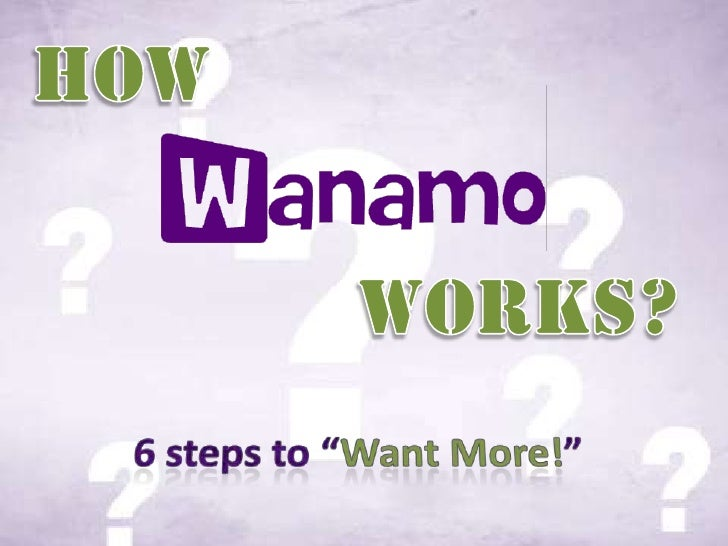 """How  <br />Works?<br />6 steps to """"Want More!""""<br />"""