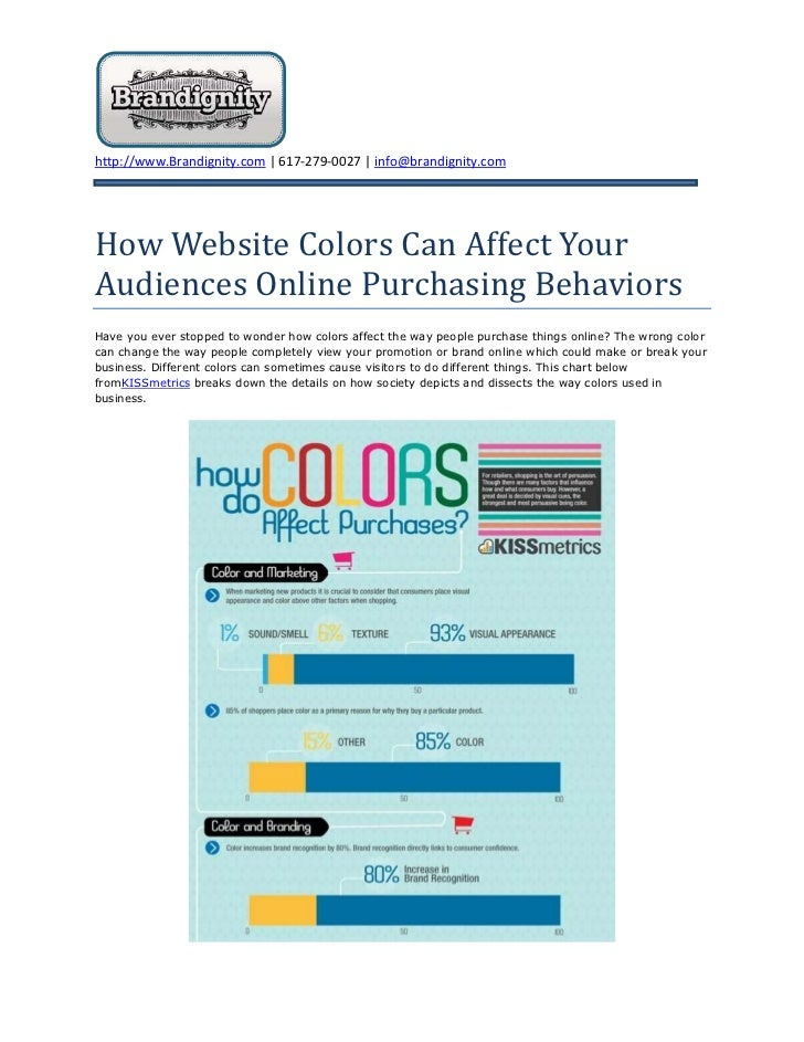 How Website Colors Can Affect Your Audiences Online Purchasing Behaviors<br />Have you ever stopped to wonder how colors a...