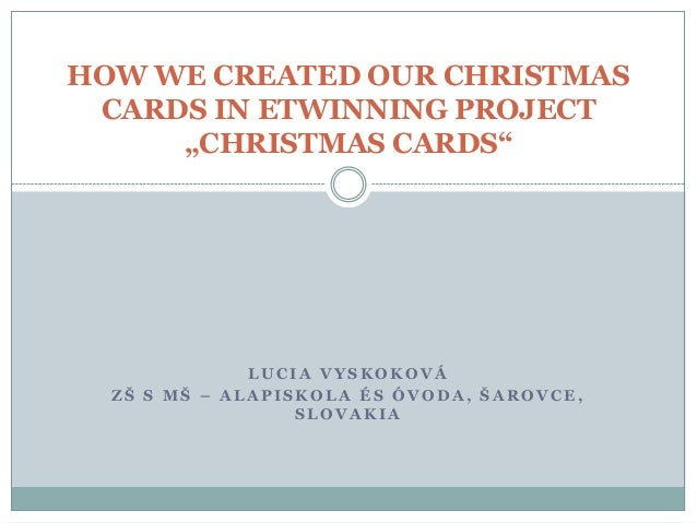 How we created our christmas cards in etwinning