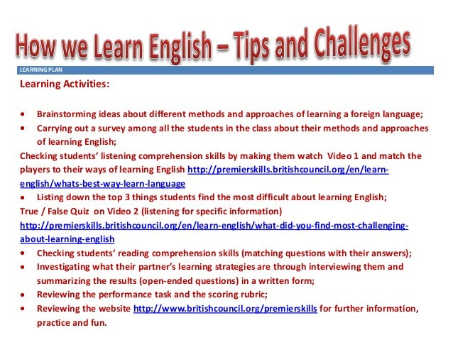 Essay About Learning English