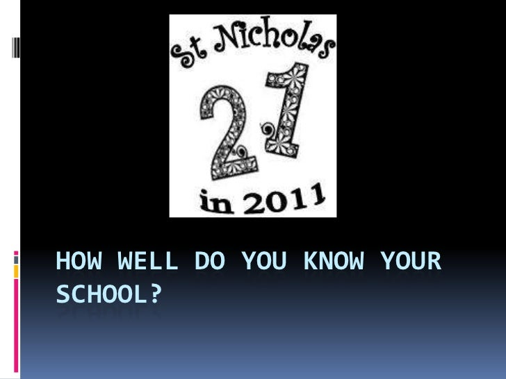 How well do you know your school