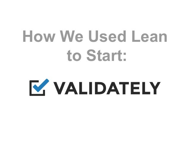 How We Used Lean to Start: