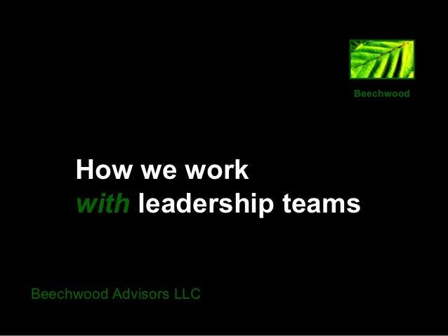 How we work presentation