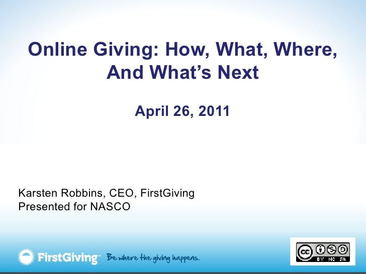 How, what, where, and what's next in online giving