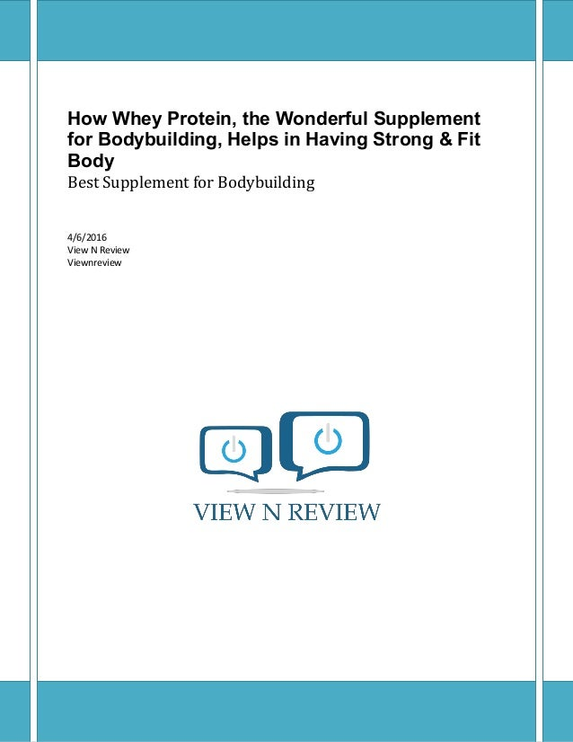 How whey protein, the wonderful supplement for