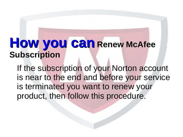 How you can renew mcafee subscription mcafee support number 844 892