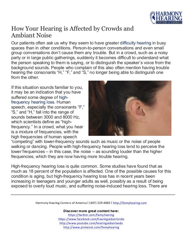 How Your Hearing is Affected by Crowds and Ambient Noise