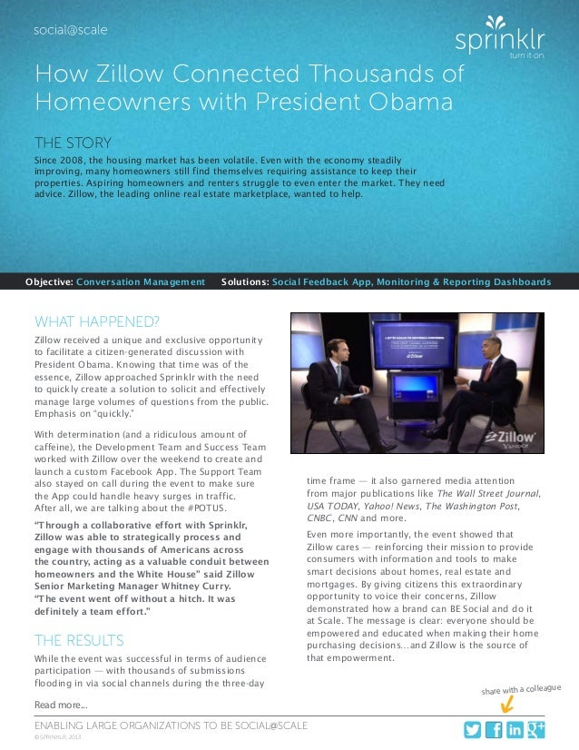 How Zillow Connected Thousands of Homeowners With President Obama