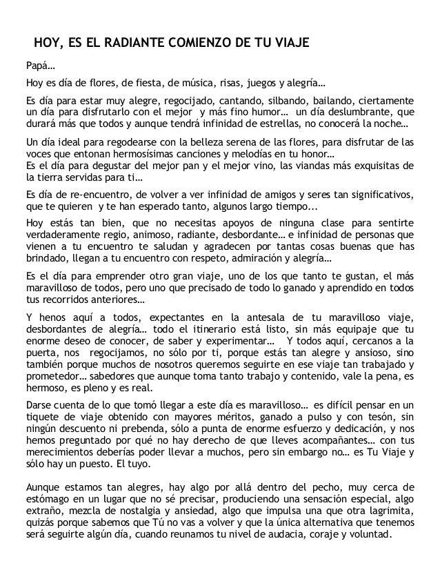HOY ES EL RADIANTE COMIENZO DE TU VIAJE