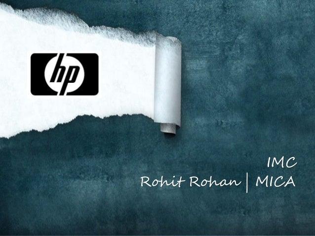 IMC Rohit Rohan | MICA