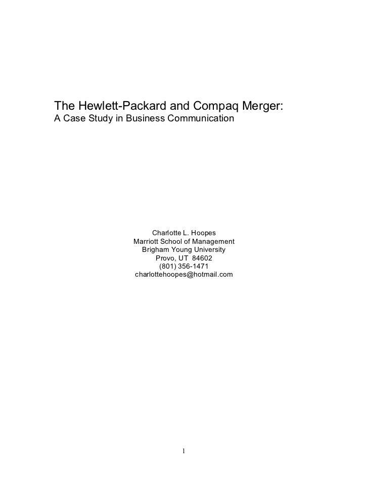 hewlett packard case study analysis