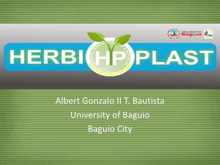 Albert Gonzalo II T. Bautista<br />University of Baguio<br />Baguio City<br />