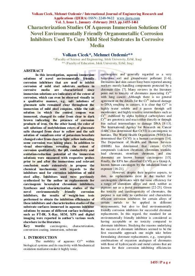 Volkan Cicek, Mehmet Ozdemir / International Journal of Engineering Research and                    Applications (IJERA) I...