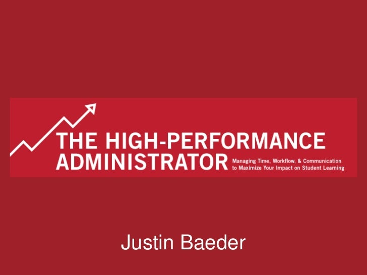 The High-Performance Administrator