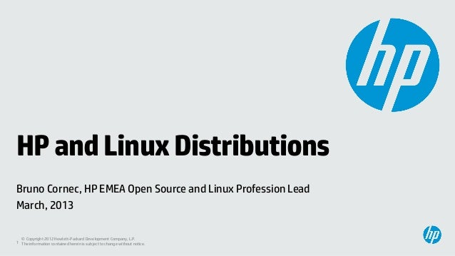 HP and Linux distros