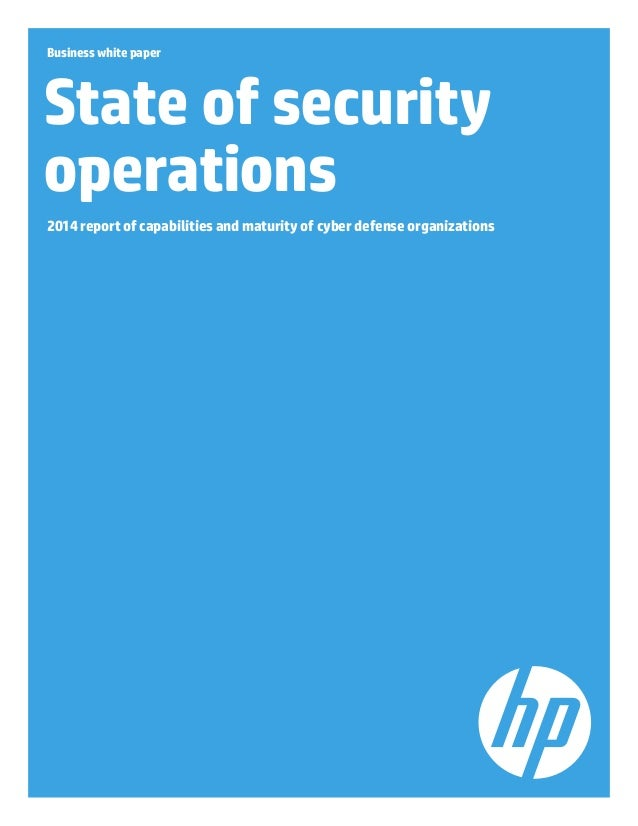 Hp arc sight_state of security ops_whitepaper