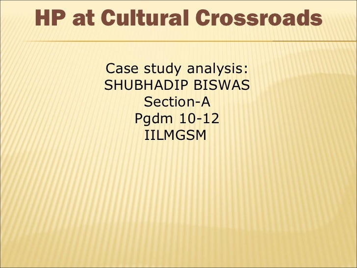 Hp at cultural cross road