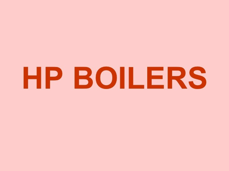 HP BOILERS