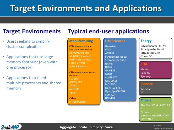 Target Environments and Applications  Target Environments                 Typical end-user applications • Users seeking to...