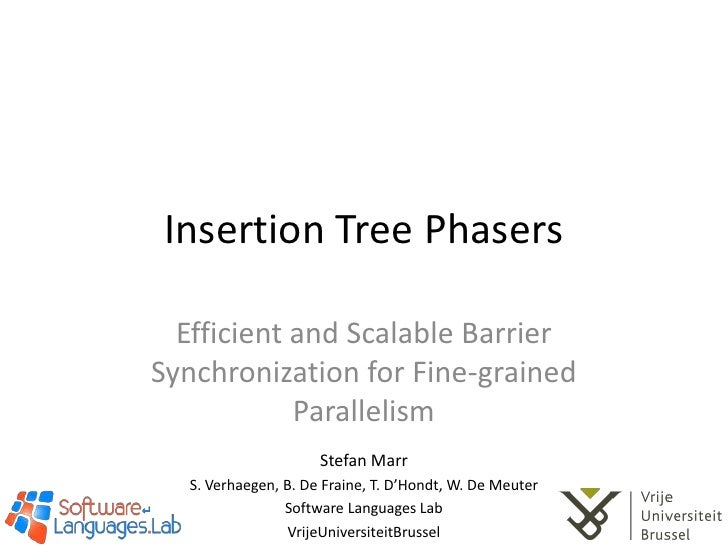 Insertion Tree Phasers: Efficient and Scalable Barrier Synchronization for Fine-grained Parallelism
