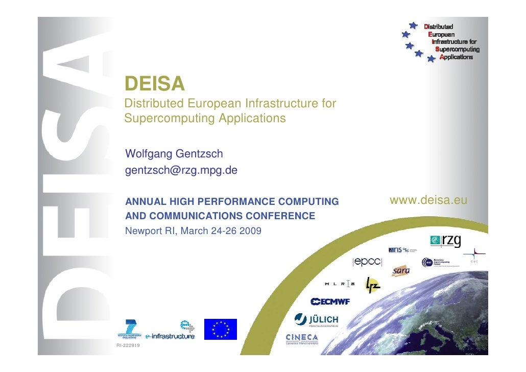 DEISA Distributed European Infrastructure for Supercomputing Applications