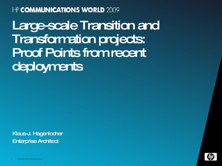 Transformation in large Telecommunications Providers