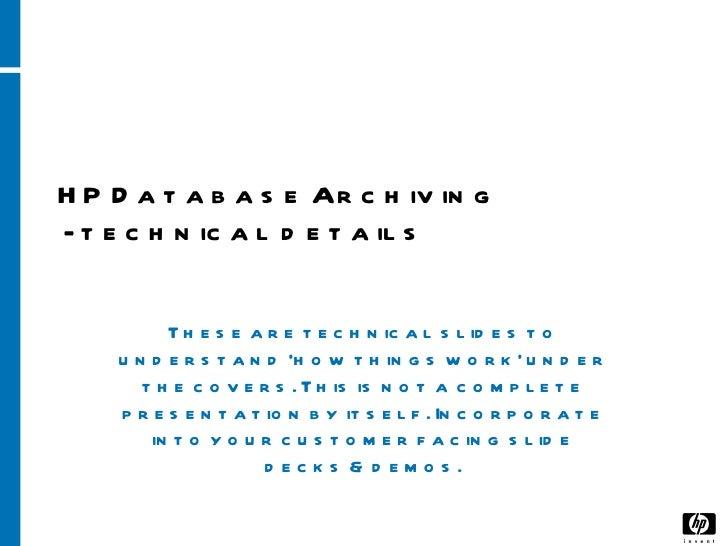 Hp dba v.6.2 technical slides