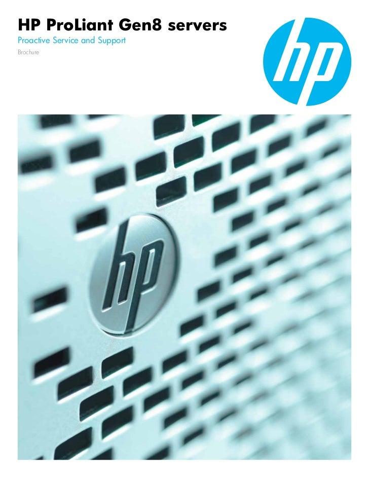 Hp Gen8 - Proactive service and support brochure