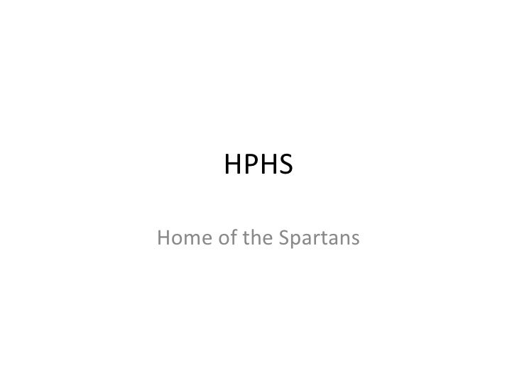 HPHS Home of the Spartans