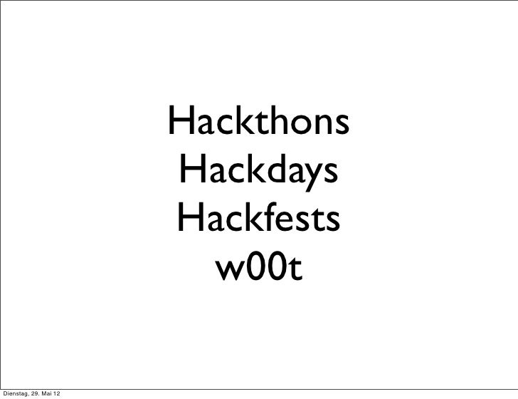 HPI hack'n'Tell Hackdays
