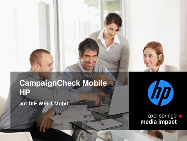 CampaignCheck Mobile HP auf DIE WELT Mobil