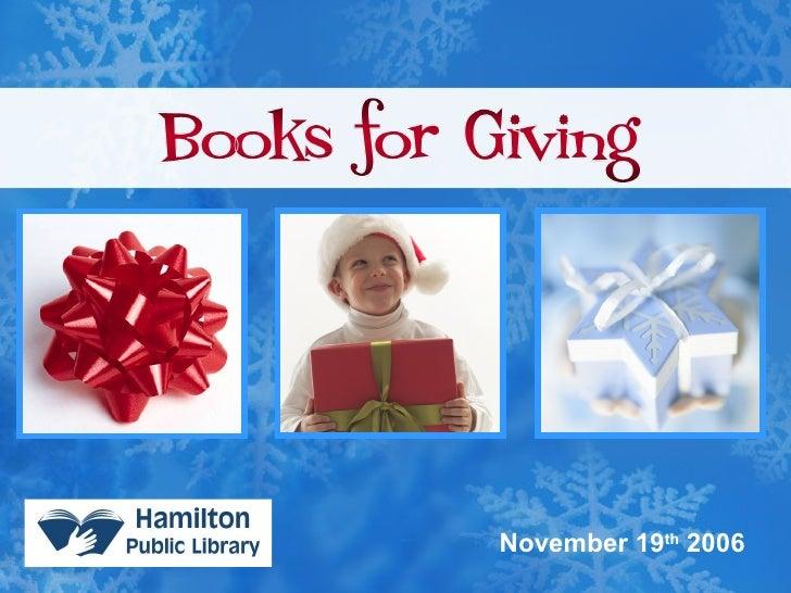 HPL Books for Giving 2006