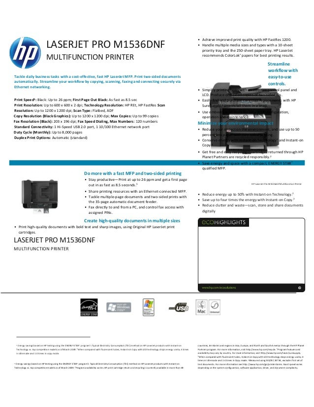 Hp laserjet dnf mfp driver and software (windows mac os)