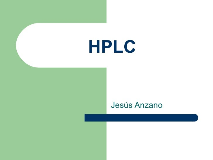 HPLC Jesús Anzano