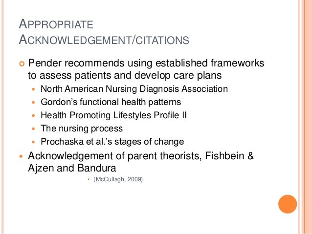 Pender s health promotion model critique of theory using fawcett s c